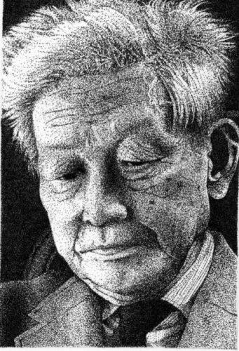 小林秀雄の点描画