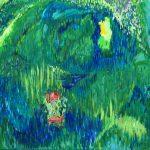 アクリル画で描いた幻想の森