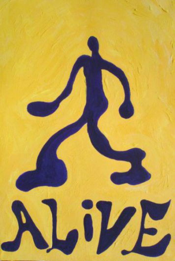 アクリル画「ALIVE」の画像