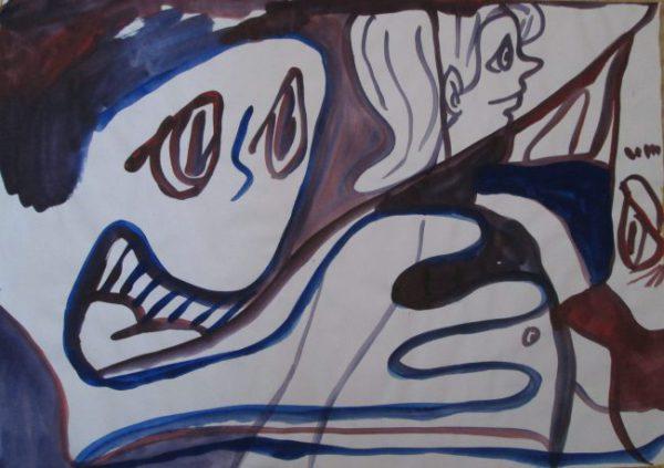 粕川が描いたドローイング