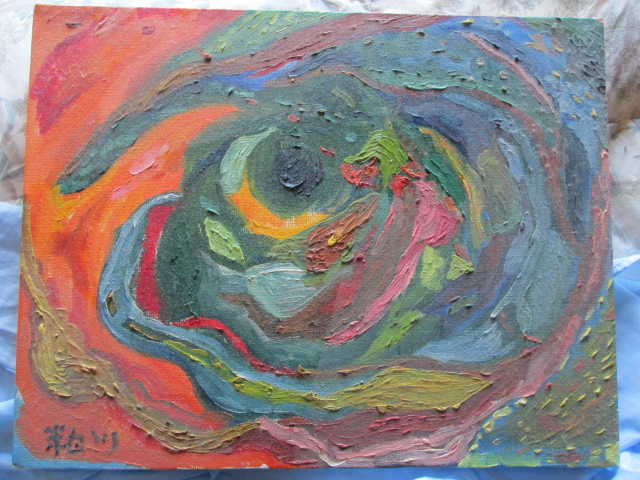 抽象画の油絵