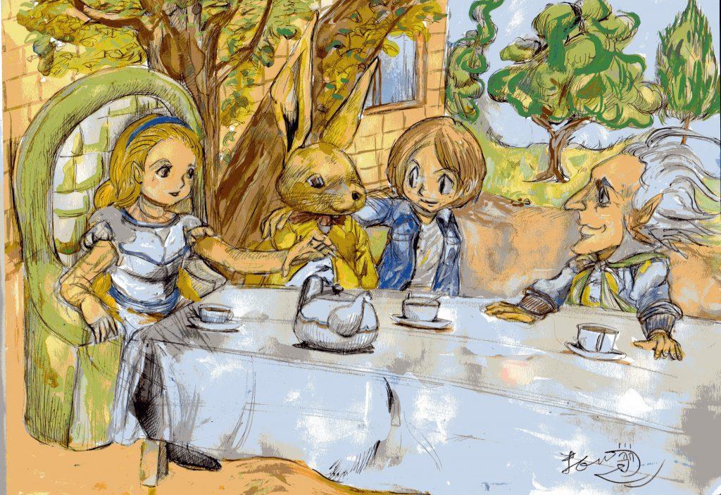 アリスの食事会のイラスト