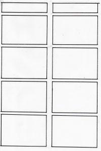 四コマ漫画のコマ枠の画像