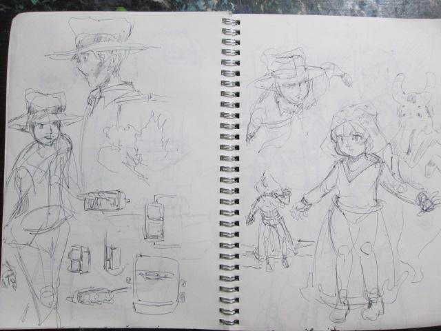 キャラクター創作ノートの中身の画像
