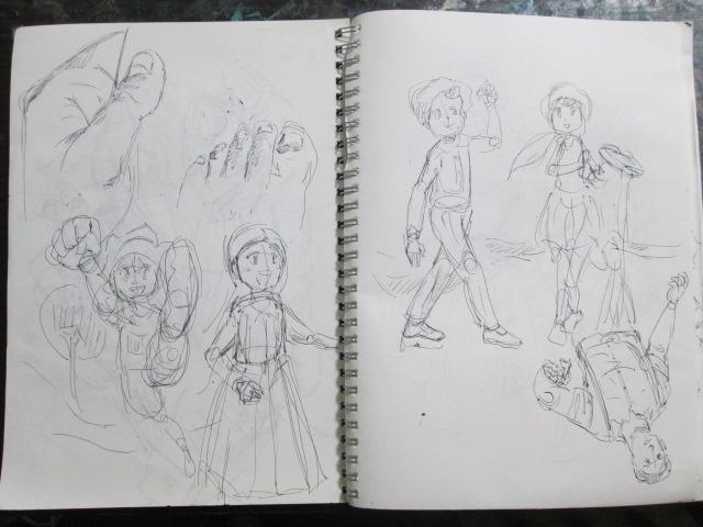 漫画キャラクターの創作ノートの画像