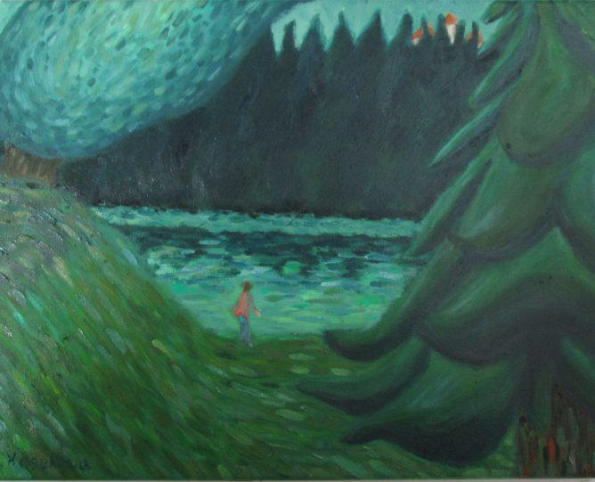 油彩 「幻想の森」