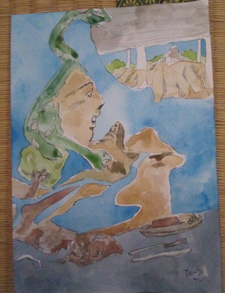 自己表現で描いた水彩画