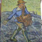 粕川が描いた種まく人の模写