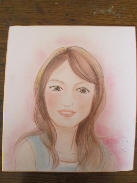 女性の似顔絵