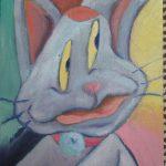 猫のチッティの漫画アート