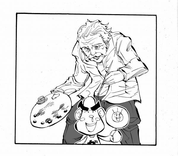 四コマ漫画 描き方 白抜き