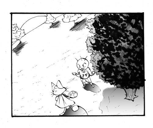 四コマ漫画 フカン