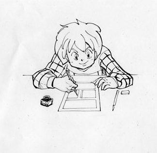 自分 漫画を描く