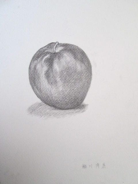 リンゴのデッサン 鉛筆