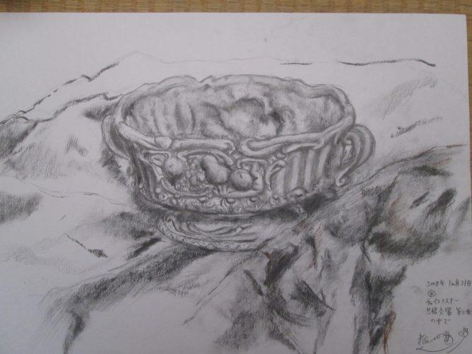 静物 鉛筆+木炭