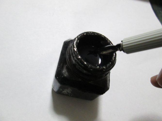 スクールペン 墨につける