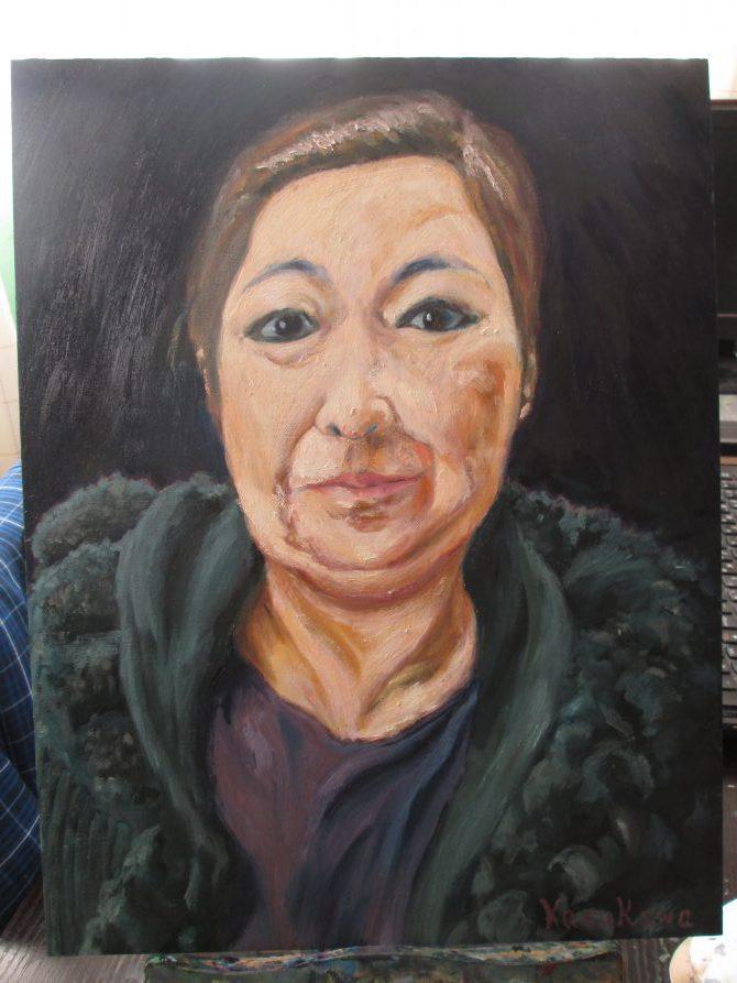 母の肖像画