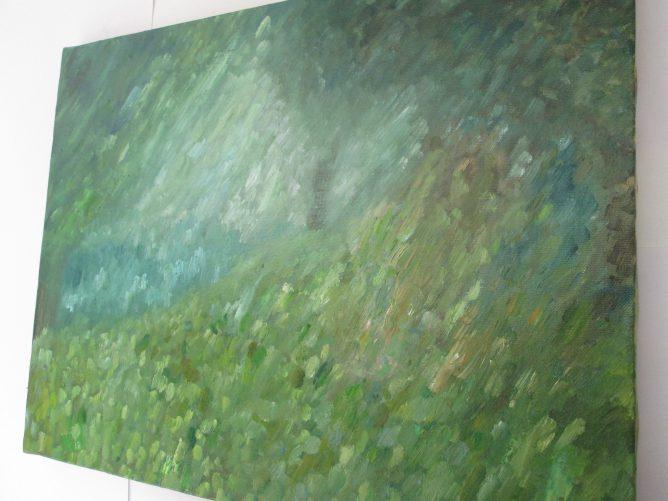 幻想の森の油彩