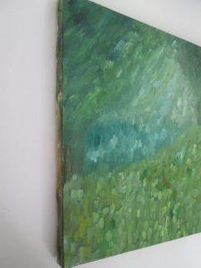 幻想の森,油彩