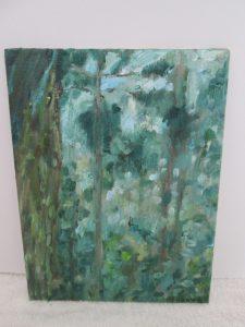 幻想の森,油彩画