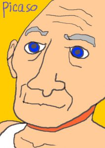 ピカソを描いた,イラスト