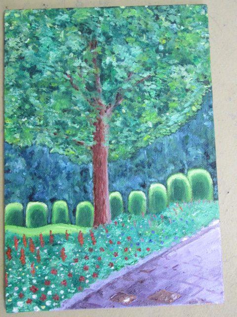 油絵「幻想の木」