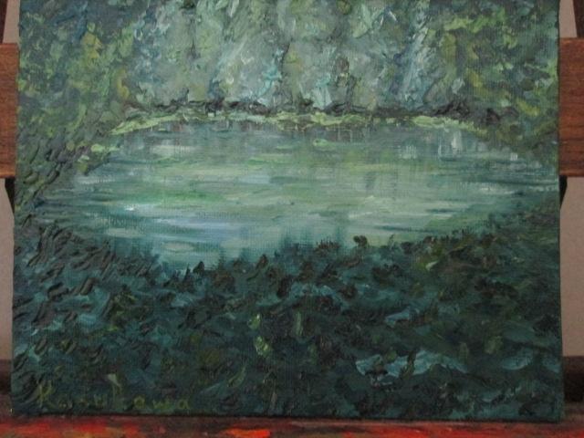 幻想の森の油絵