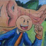バカオ 油彩画