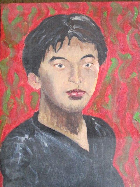 18歳の時に描いた自画像