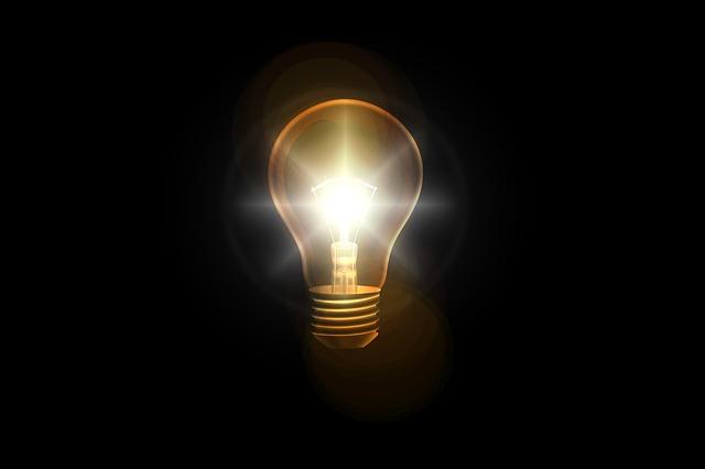 電球が光っている画像