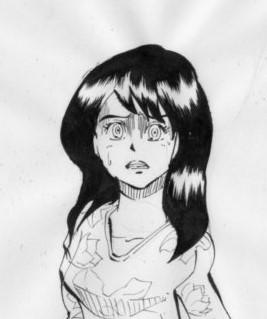 恐怖する少女のイラスト