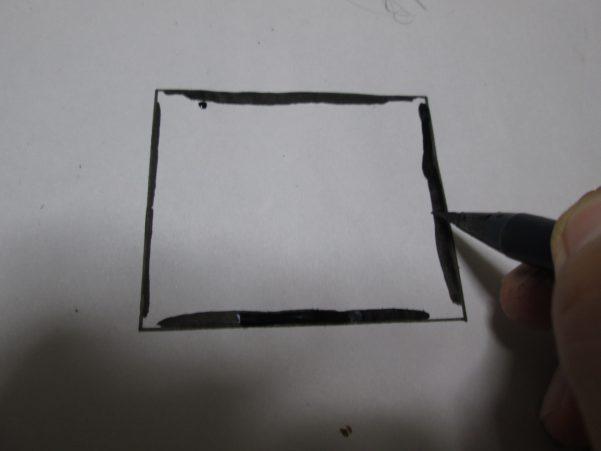 コマ枠の内部をなぞっている画像