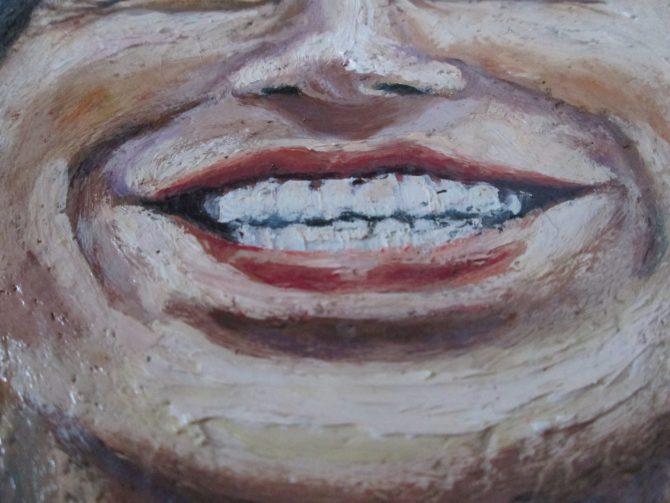 イノッチの肖像画の口の部分