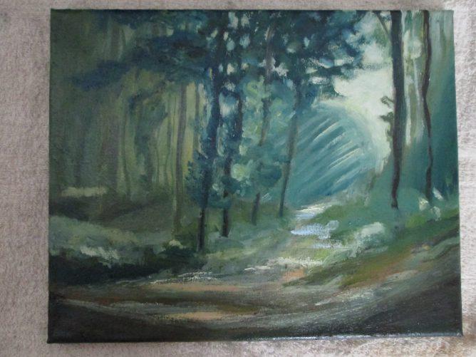 森を描いた油絵