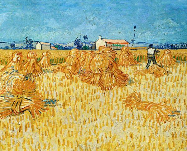 ゴッホの描いた麦畑の絵画