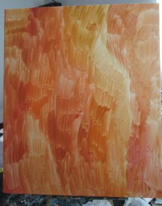 下塗りしてあるキャンバスの画像
