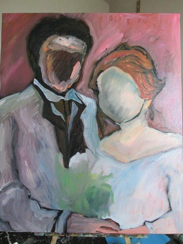 結婚式 絵画