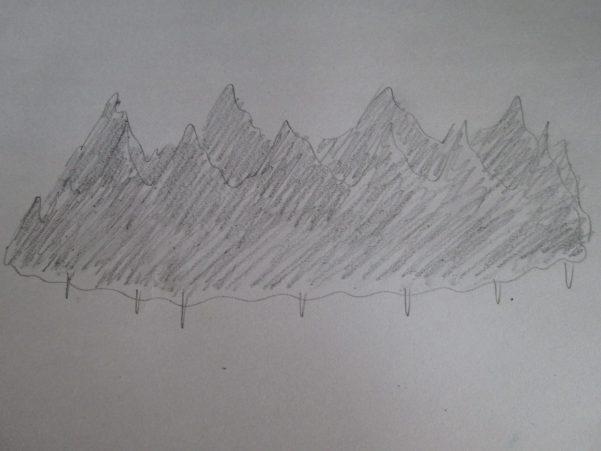 森を描いたラフ画