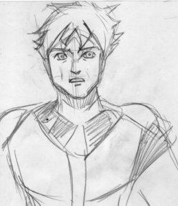漫画キャラクターの表情が描いてあるイラスト画像