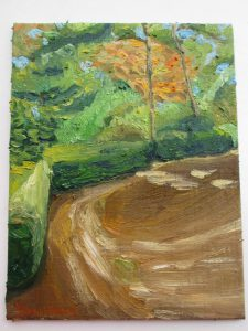 森の中,油彩画
