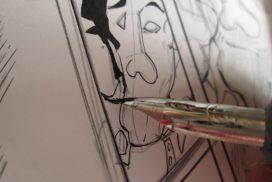 漫画,ペン入れ,順番