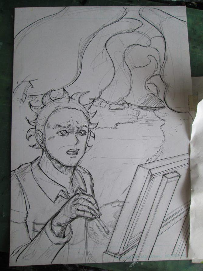 漫画 扉絵 幻想の森