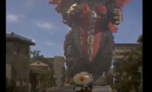 ベロクロンに向かうタンクローリーの画像