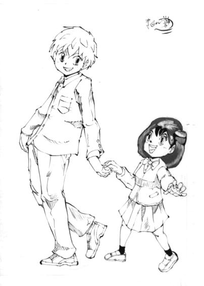 少年と少女のイラスト
