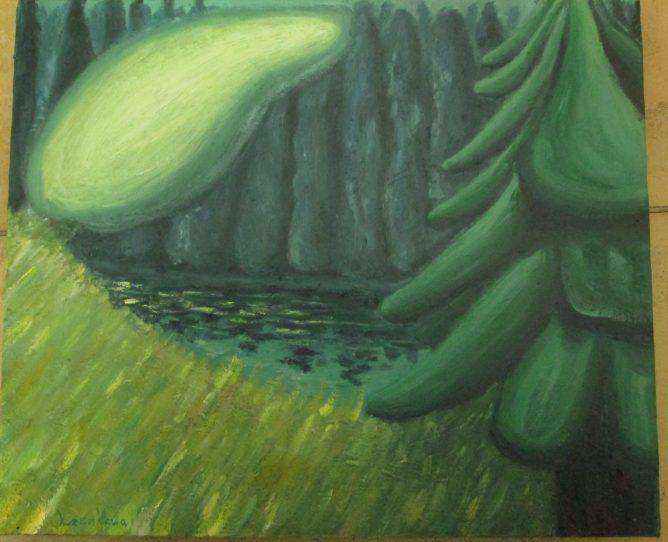 油彩 幻想の森