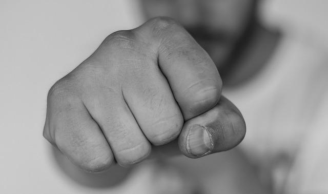 男の拳の画像