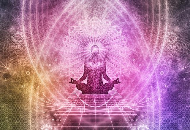 瞑想しているイラストのある画像