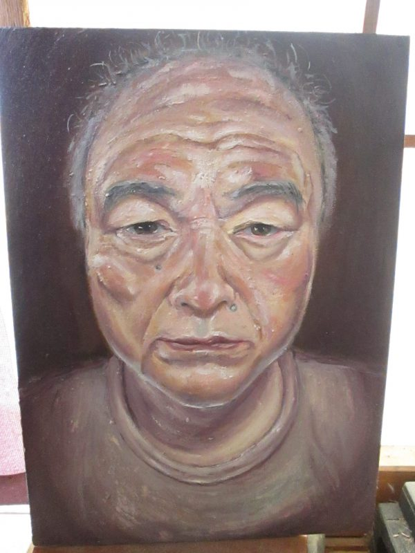 父の肖像 油彩