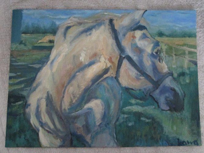 馬の絵,油彩