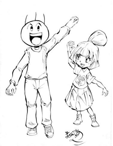 バカオと少女